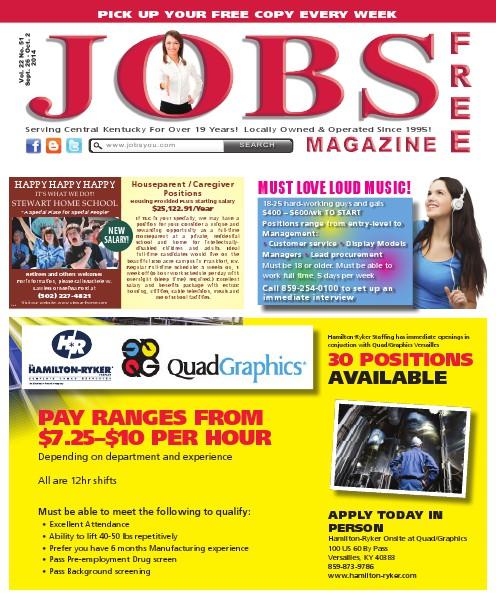 Jobs Magazine September 26 – October 2