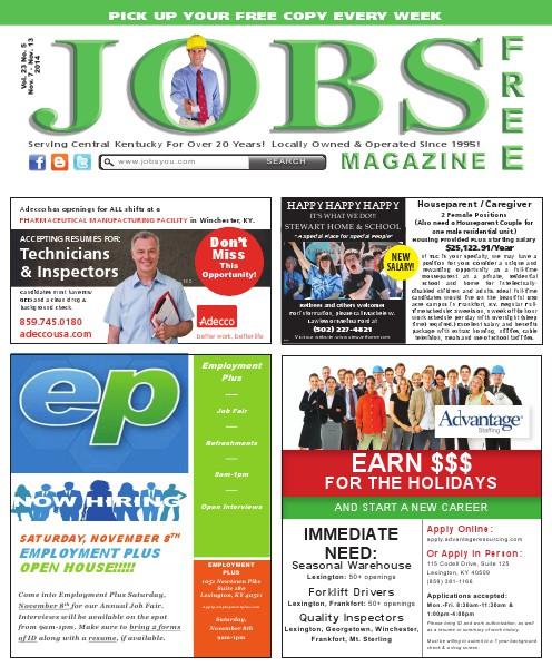 Jobs Magazine November 7 – November 13, 2014
