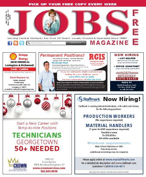 Jobs Magazine December 5 – December 11, 2014