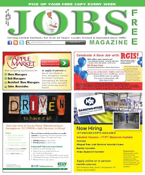 Jobs Magazine December 12 – December 18, 2014