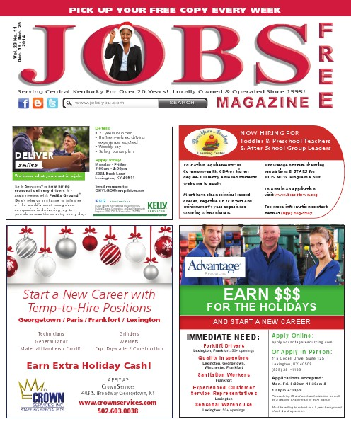 Jobs Magazine December 19 – 25, 2014