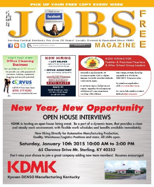 Jobs Magazine December 26, 2014 – January 1, 2015