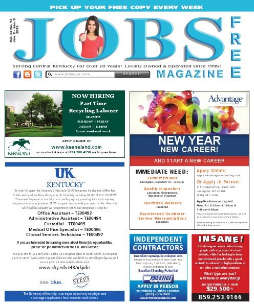 Jobs Magazine January 2 – 8, 2015