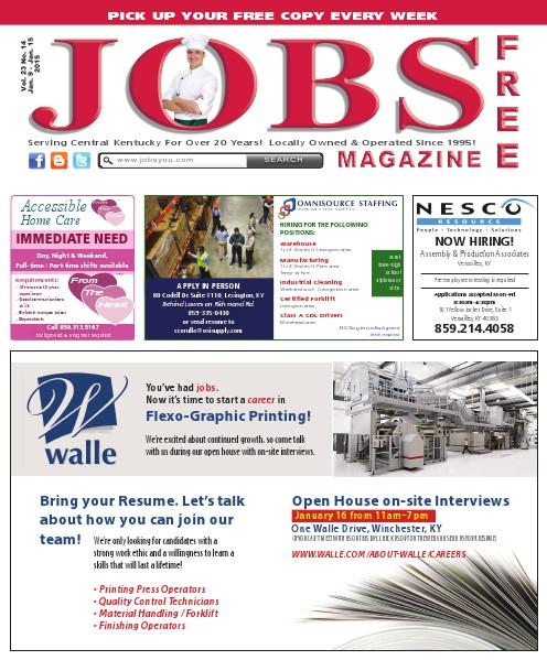 Jobs Magazine January 9 – 15, 2015