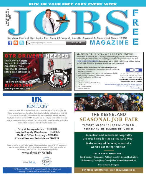 Jobs Magazine February 27 – March 5, 2015