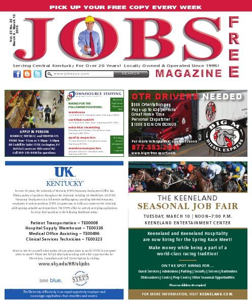 Jobs Magazine March 6 – 12, 2015