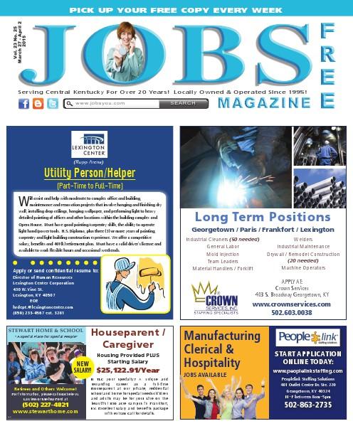 Jobs Magazine March 27 –April 2, 2015