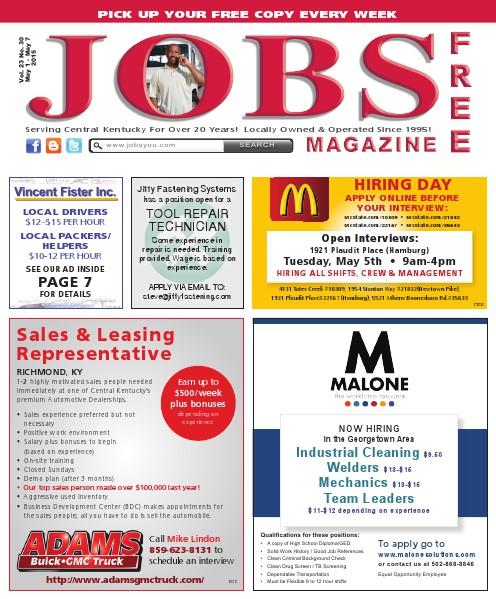Jobs Magazine May 1 – May 7, 2015