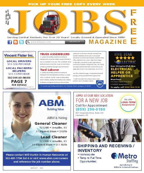 Jobs Magazine May 15 – 21, 2015