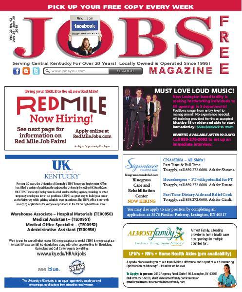 Jobs Magazine July 24 – 30, 2015