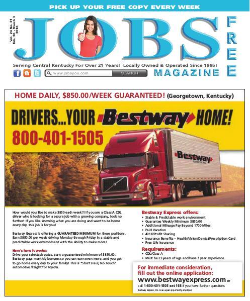 Jobs Magazine February 26 –March 3, 2016