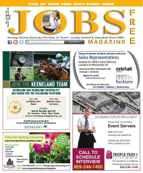 Jobs Magazine March 18 – March 24, 2016