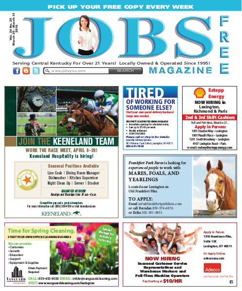 Jobs Magazine March 25 – March 31, 2016