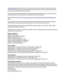 Global Temperature Sensors Market Research Reports 2023