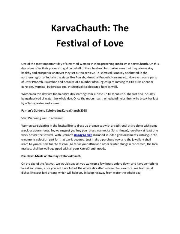 KarvaChauth: The Festival of Love Karva chauth blog