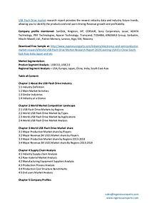 Global USB Flash Drive Market Estimation & Key Company Analysis
