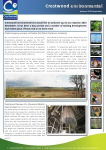 Crestwood Environmental Autumn 2013 Newsletter 2013