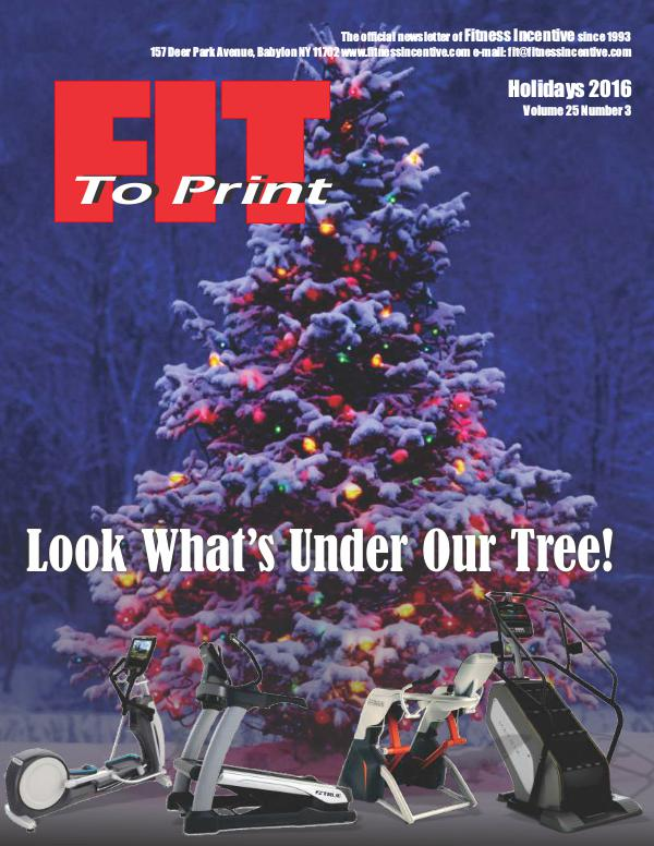 Fit to Print Volume 25 Issue 4 December 2016