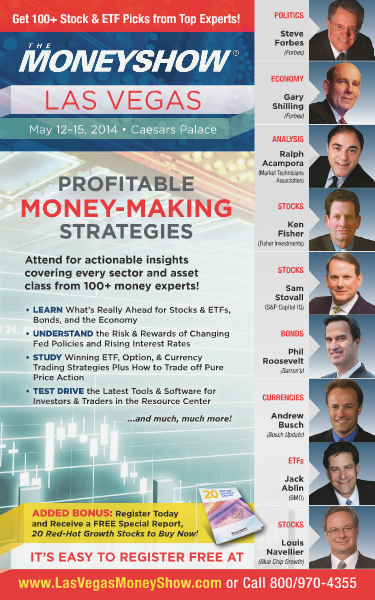 The MoneyShow The MoneyShow Las Vegas 2014 Brochure