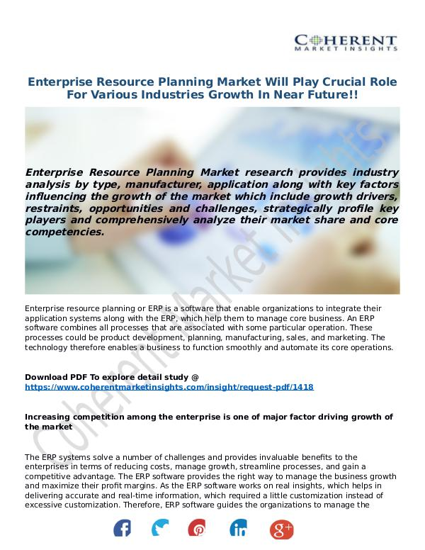 ICT RESEARCH REPORTS Enterprise-Resource-Planning-Market