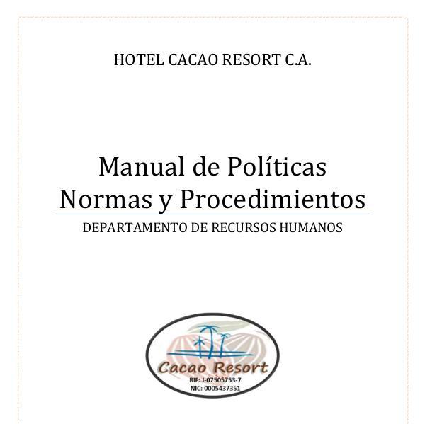 Manual de políticas, normas y procedimientos de descripción de cargos Manual de politicas normas y procedimientos