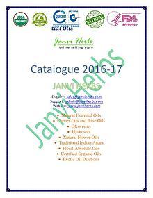 Janvi Herbs Essential Oils Products List