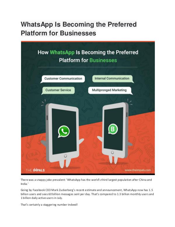 WhatsApp Is Becoming the Preferred Platform for Bu