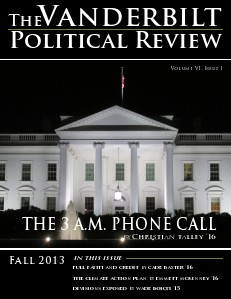 Vanderbilt Political Review Fall 2013