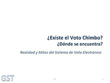 Sobre el voto chimbo noviembre 2013