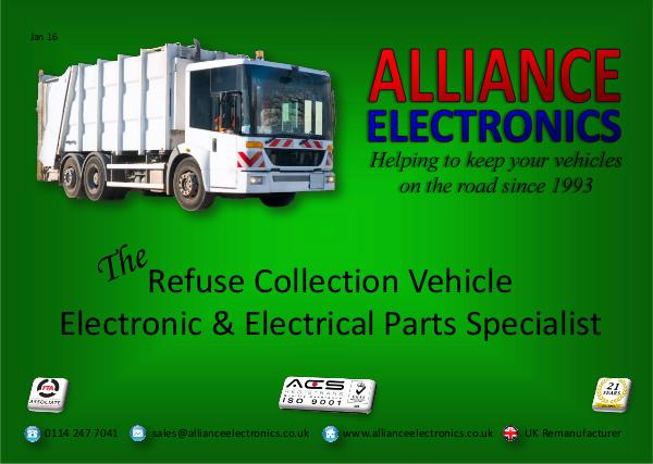 Refuse Collection Vehicle Parts 2018 from Alliance Electronics Ltd 2018