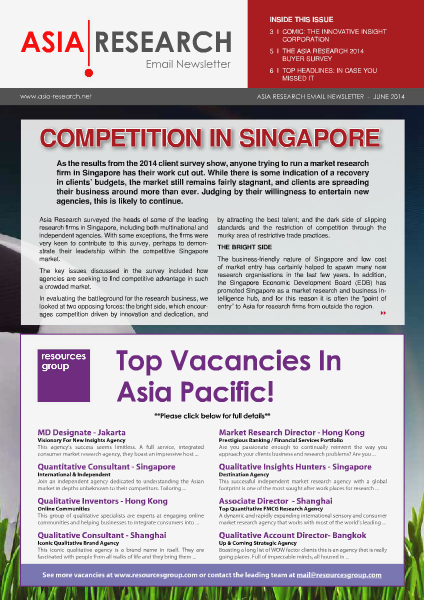 Asia Research Email Newsletter June 2014