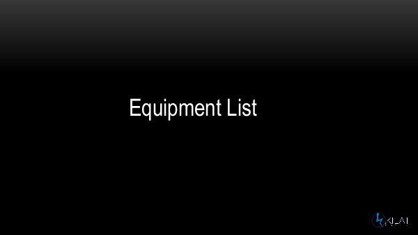 Asia Natural Tour (ANT) equipment catalogue