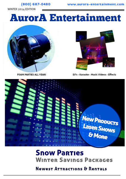 Aurora Entertainment Product Guide Winter 2013/2014