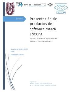 Presentación de productos software Escom. Dec. 2013.