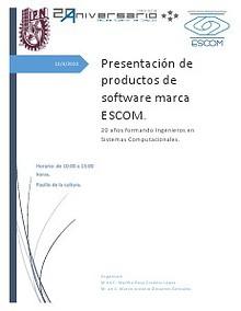 Presentación de productos software Escom.