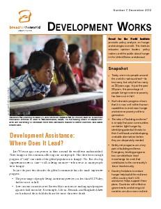 Development Works Number 7, December 2012