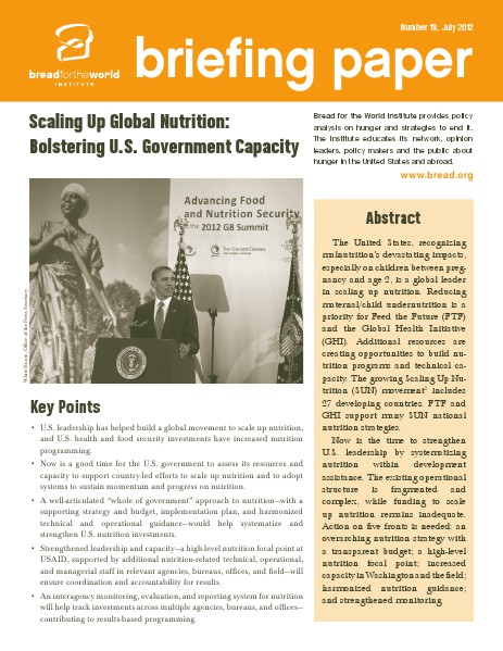 Briefing Papers Number 19, July 2012