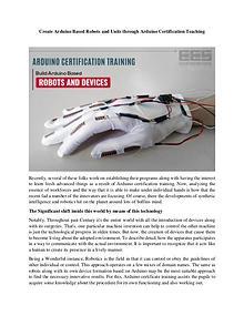 Arduino Certification Training