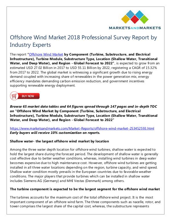 Energy and Power Offshore Wind Market
