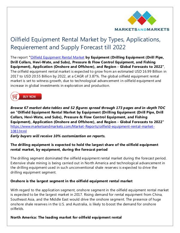 Energy and Power Oilfield Equipment Rental Market