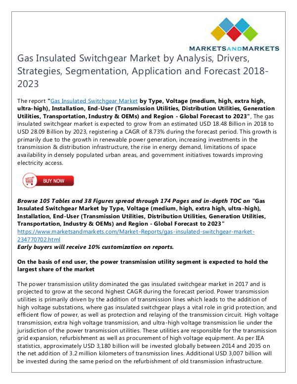 Energy and Power Gas Insulated Switchgear Market