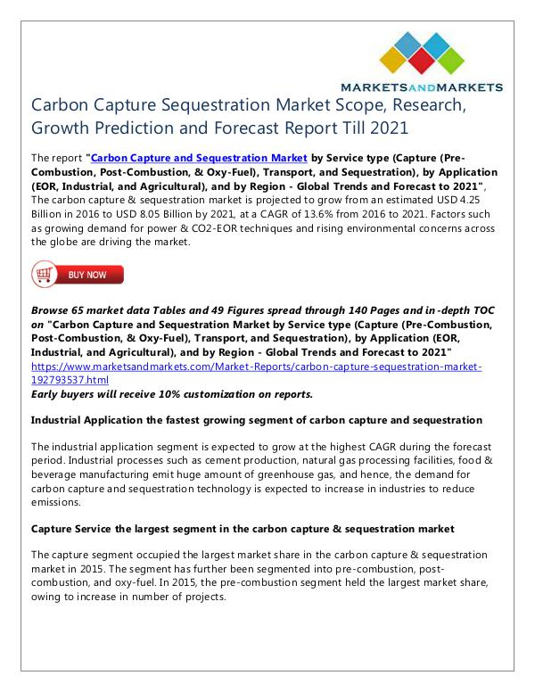 Energy and Power Carbon Capture Sequestration Market