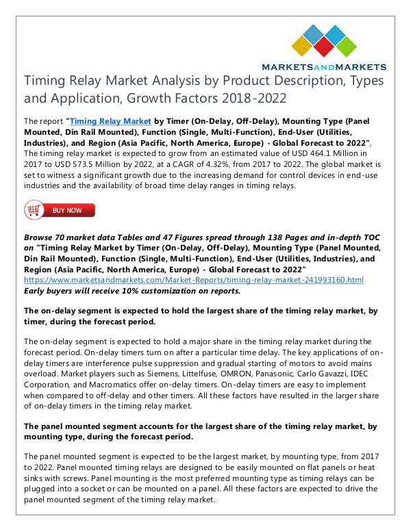 Energy and Power Timing Relay Market