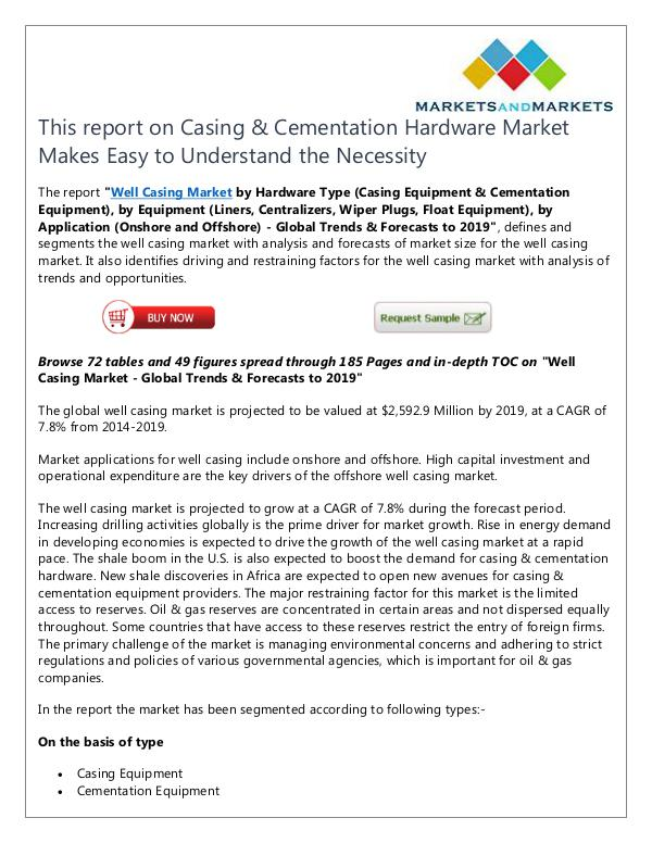 Energy and Power Casing & Cementation Hardware Market