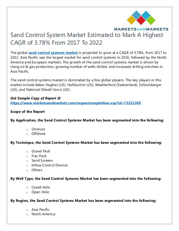 Sand Control System Market