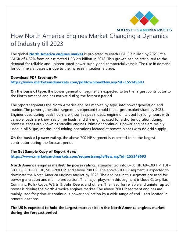 North America Engines Market