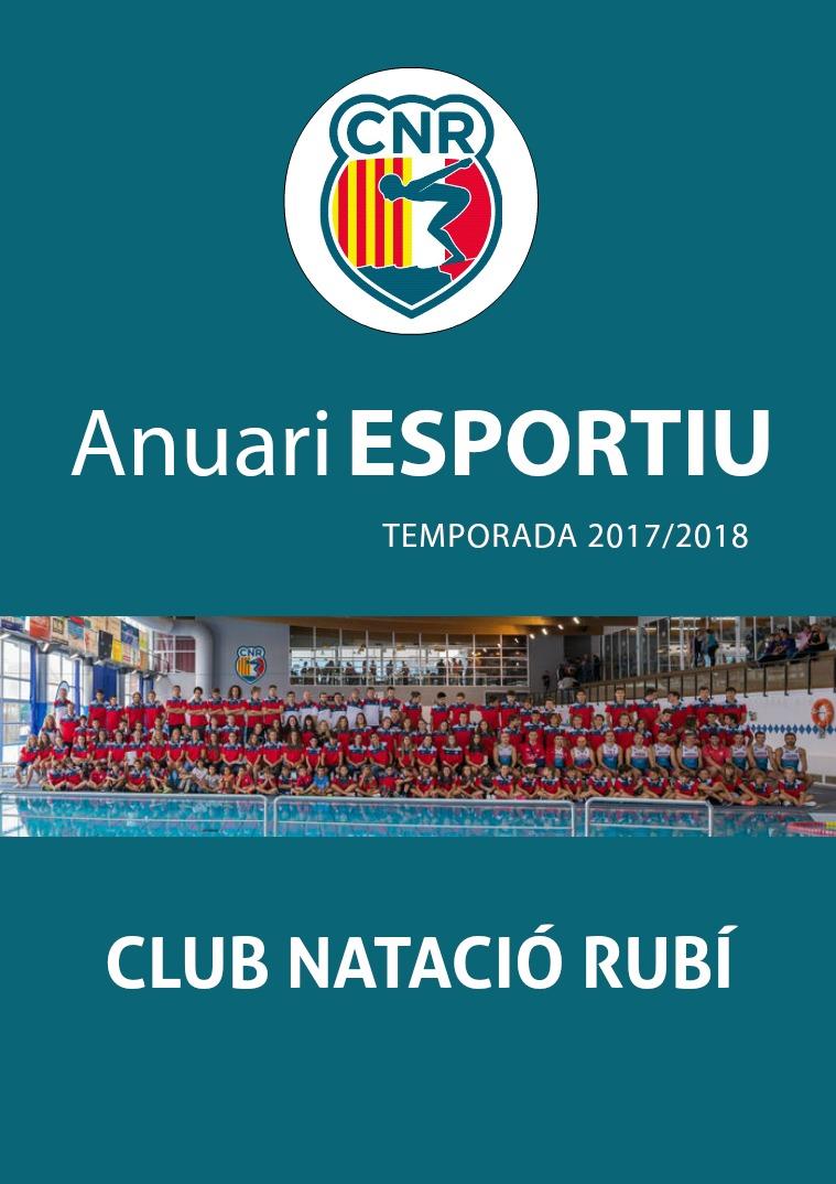 Anuari Esportiu Club Natació Rubí 2017/2018 1