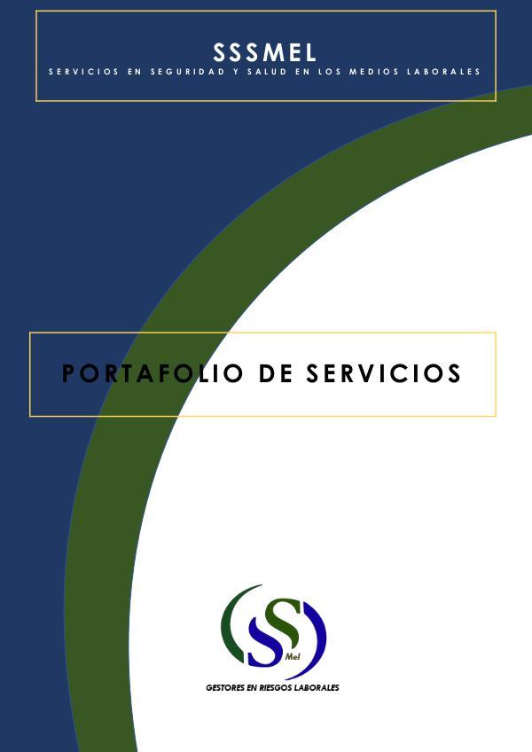 PORTAFOLIO DE SERVICIOS SSSMeL PORTAFOLIO DE SERVICIOS
