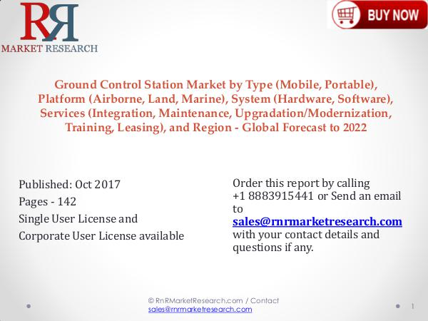 Ground Control Station Industry 2017-2022 Growth, Trends and Demands Ground Control Station Market