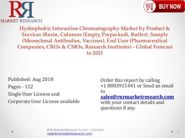 Global Hydrophobic Interaction Chromatography Market 2018-2023 Hydrophobic Interaction Chromatography Market